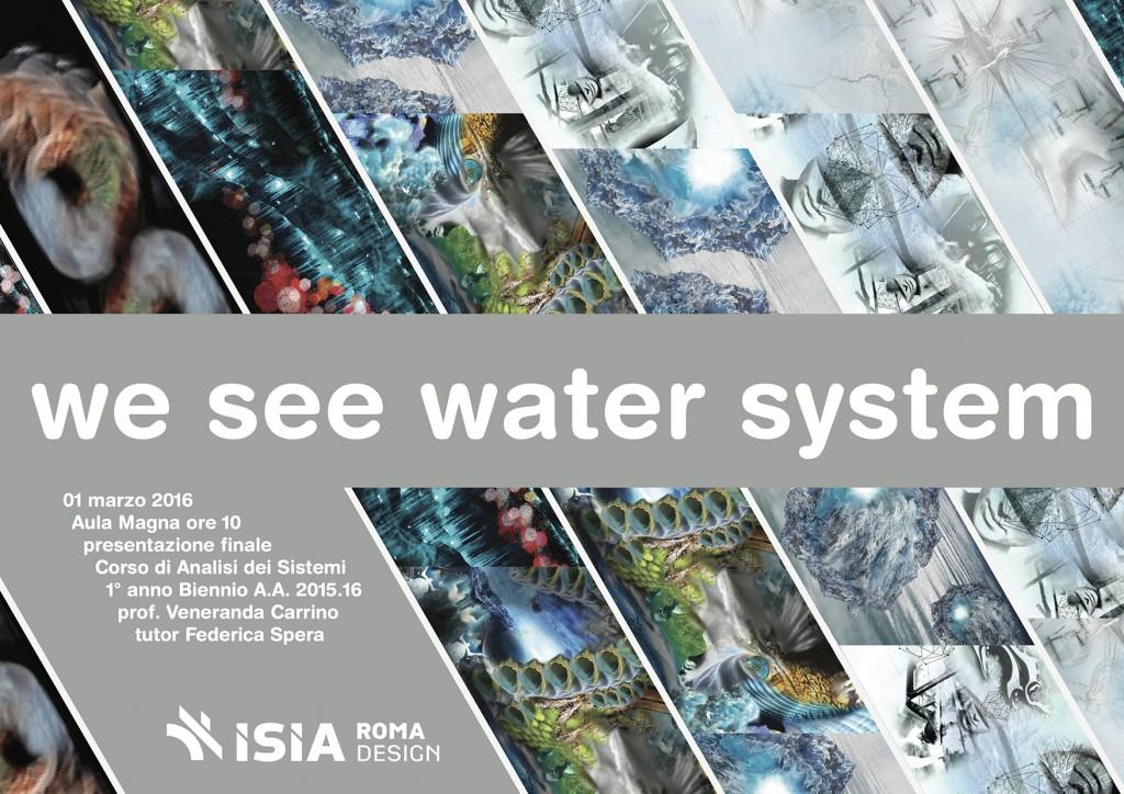 Invito__2016__We See Water System__corso di Analisi dei Sistemi__ISIAROMA